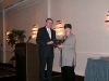 Ron Cowell presents the EPLC Leadership Program Alumni Award to Jean Dexheimer (EPFP class of 2001-02).