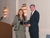 Terry Barnaby accepts the EPLC Partner Award on behalf of the Pennsylvania State Education Association (PSEA).