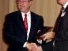 EPLC President Ron Cowell presents the EPLC Leadership Program Alumni Award to Daniel Fogarty.