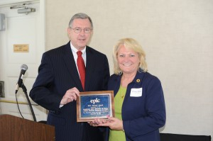 EPLC's 2014 Partner Award presented by Ron Cowell to the Pennsylvania State Association for Health, Physical Education, Recreation and Dance, represented by Dr. Cindy Allen, President.