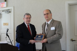EPLC's 2014 Partner Award presented by Ron Cowell to the American Alliance for Theatre and Education, represented by Gene R. Frank, Ph.D., PA Representative, Theatre Education Advocacy.