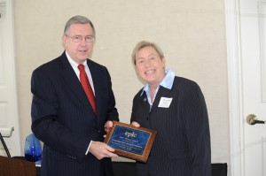 EPLC's 2014 Partner Award presented by Ron Cowell to the Pennsylvania Music Educators Association, represented by Margaret S. Bauer, CAE, Executive Director.