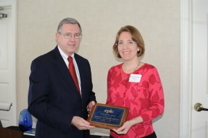 EPLC's 2014 Partner Award presented by Ron Cowell to the Pennsylvania Art Education Association, represented by Mary Elizabeth Meier, Ph.D., President.